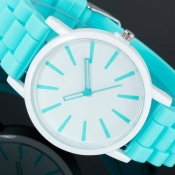 50 Pieces Fashion Geneva Ladies Women Sports Silicone Watch Jelly 12 Colors Quartz Watches relojes mujer Gift DHL Free Ship