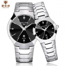 2016 Holuns Brand Luxury Full Tungsten Steel Casual Quartz Watches Dress Men Women relogio masculino Designer Lover's Wristwatch
