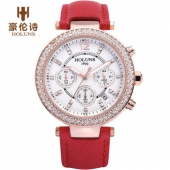 New Fashion Luxury Brand HOLUNS Women Watches Waterproof 100M Chronograph Watches Diamond Ladies Watch Casual Quartz Wristwatch
