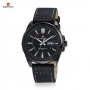 NAVIFORCE Luxury Brand Genuine Leather Strap Date Men's Quartz Watch Sports Watches Men Wristwatch Clocks relogio masculino