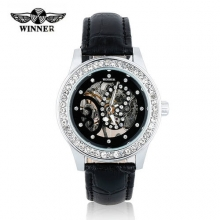 Fashion Luxury Brand Winner Women Watch Newest Design Mechanical Hollow Watches Lady Watch relojes mujer 2016