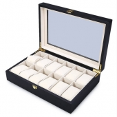 Luxury 12 Grid Wood Watches Box With Jewelry Storage Organizer Display Case Packing Gift Box for Watches