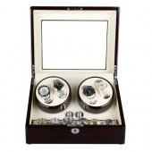 High Quality New Automatic Leather 4+6 Leather Watch Winder Storage Display Case Box Gift