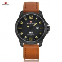 relogio masculino NAVIFORCE Luxury Brand Genuine Leather Strap Men's Quartz Watch Sports Military Watches Clocks Male Wristwatch