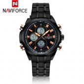 2016 New Luxury Naviforce 9049 Men Sports Watches Men's Digital Military LED Wristwatch Full Steel Relogio Male Clock relojes