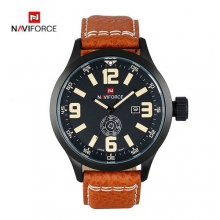 Luxury Brand NAVIFORCE Men Watches Quartz Watch 30M Waterproof Leather Band Military Sports Wristwatch Gift relogio masculino
