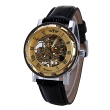 2016 New Luxury Brand Winner Fashion Casual Men's Mechanical Watch Skeleton Watches Casual Wristwatch relojes hombre
