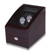 Shipping From UK High Quality Brown Automatic Rotation 2+3 Leather Watch Winder Storage Display Case Box Gift