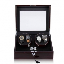 Shipping From UK Automatic Watches Winder Rotation 4+6 Storage Display Case Box Gift