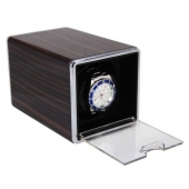 High Quality Brown Rectangle Automatic Single Watch Winder Mute Display Box Gift