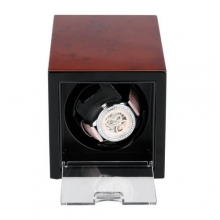 Shipping From UK High Quality Automatic Rectangle Mute Singer Metal Watch Winder Gift