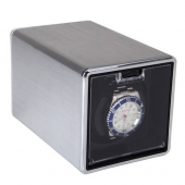 New High Quality Silver Rectangle Mute Automatic Watch Winder Metal Display Box Gift