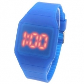 50pcs/lot , New Colorful Unisex Men Women LED Digital Touch Screen Silicone Date Time Sport Wrist Watch DHL Free Shipping