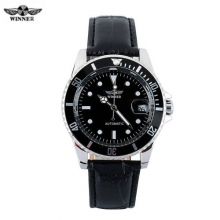 New Luxury Brand Winner Men's Automatic Self-winding Mechanical Watches Leather Strap Band Males Casual Wristwatch Clocks reloj