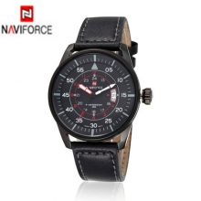 NAVIFORCE Luxury Brand Watches Men's Quartz Clock Casual Military Sports Wristwatch Genuine Leather Male Watch relogio masculino