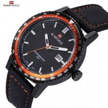 2016 Luxury Brand NAVIFORCE Sports Watch Men's Quartz Waterproof Male Leather Casual Military Wristwatch Relogio Masculino