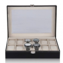 Shipping From Spain New Luxury Brand Watch Display Box Faux Leather 12 Grid Case Jewelry Storage Organizer Gift caja reloj