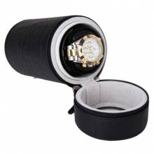 High Quality Black Round Mute Automatic Watch Winder Professional Single Winder Watch Display Box
