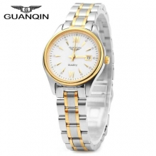 GUANQIN Female Ladies Casual Quartz Wrist Watch Famous Luxury Brand Women Gold Watches 2016