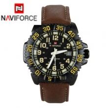 Relogio Masculino Fashion NAVIFORCE Quartz Watch Sports Military Watches Men's Luxury Brand Leather Strap Male Wristwatch Clocks