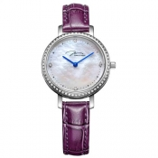 Original Brand Verus Fashion High Quality Women Quartz Watch Genuine Leather Strap Crystal Female Wristwatch