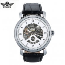 2016 Luxury Brand Winner Men's Watches Genuine Leather Skeleton Automatic Mechanical Men Business Sports Male Wrist Watch Clock