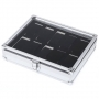 2016 New Arrival 10 Grids Stainless Steel Watch Case With Transparent Glass Cover Box Organizer Sliver cajas para relojes
