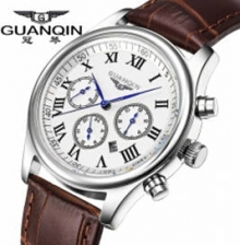 Top Brand Luxury Original GUANQIN Men's Quartz Watches Men Wristwatches Waterproof Fashion Leather Strap Watch Hours Clock Male