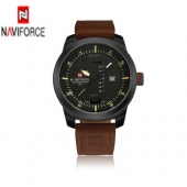 Brand NAVIFORCE Watches men Casual Quartz reloj Leather Sports wristwatch Army Military Dive Men's Watches relogio masculino