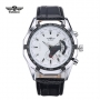 New WINNER Men Casual Watches Classic Leather Band Self Wind Skeleton Mechanical Clock Fashion Military Male Hot Sale Wristwatch