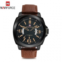 2016 NAVIFORCE 9062 Luxury Brand Men's Waterproof Calendar Quartz Analog Watches Sports Leather Band Male Wristwatch Clocks