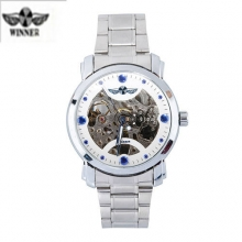 Luxury Brand Fashion WINNER Men's Watch Automatic Mechanical Wristwatch Stainless Steel Band Male Watches relogio masculino