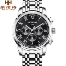 Luxury HOLUNS Brand Men's Watch Automatic Mechanical Watches Full Steel Waterproof Male Casual Businees Wrist Watch Clocks